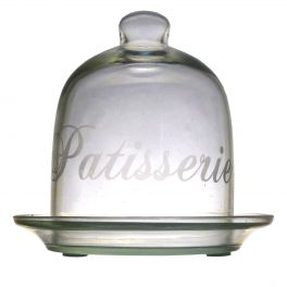Glass cloche d.10 h.13