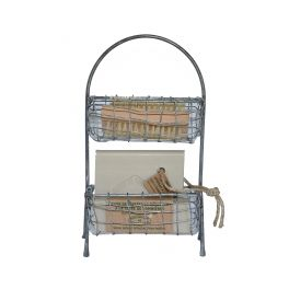 Wire basket with laundry accessories h.23