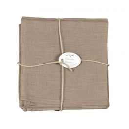 Linen taupe serviettes (set of 6) L 40 x W 40