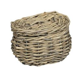Grey wicker basket, small 15x10