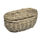 Grey wicker basket, medium 25x12