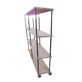 Industry double shelf unit, metal and wood D 40 x W 160 x H 180