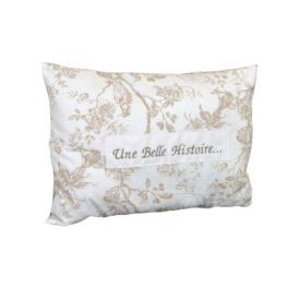 Colette blanc rectangular cushion, cotton 60X43