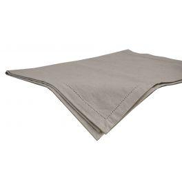 Cotton natural rectangular table cloth 250x150
