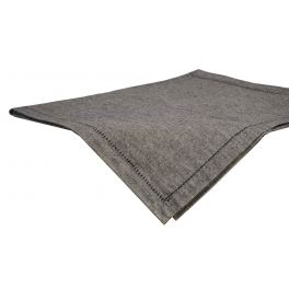 Cotton anthracite rectangular table cloth 250x150