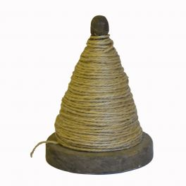 Conical string ball on wooden dispenser, small d12 h15