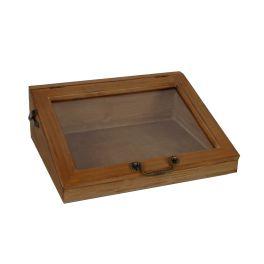 Antiquaire box with window panel, medium h.12 35x27.5