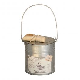 Shaved soap in tin with wooden spoon, 125g