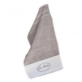 Le bain guest towel, anthracite cotton 30x50