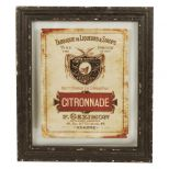 Wood and glass framed artwork 'citronnade' 48x40