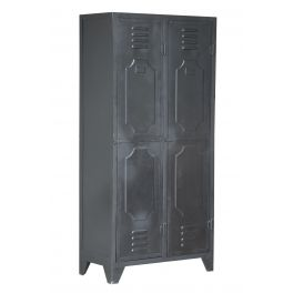 Indus 2 door locker unit, metal W85cm x D55cm x H180cm