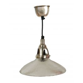 Serrated glass ceiling light with matching metal ceiling cup, d.22