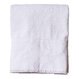 Le bain bath towel, white cotton 50 X 100