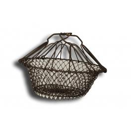 French salad basket, accordion h.22 d.24 powder coated mesh