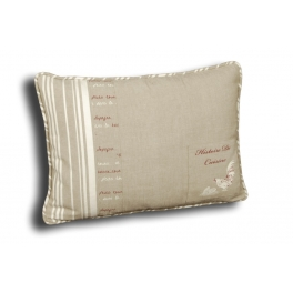 Rectangular cushion, removable cover 50x35 'histoire de cuisine'