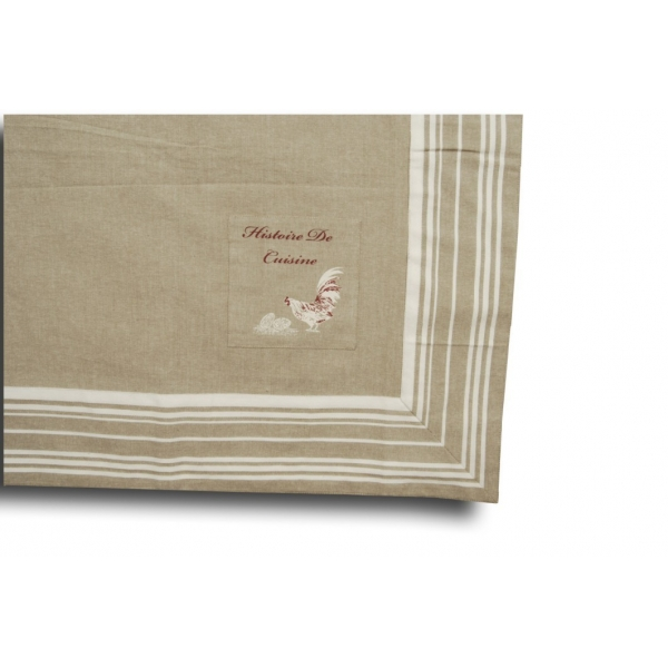 Square table cloth 150x150 39 histoire de cuisine 39 for Table carree 150 x 150