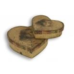 Set 2 heart boxes, postal d