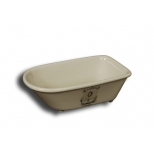 Mini bath ceramic soap dish 14x7 'la salle de bain'