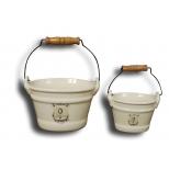 Ceramic pail 13.5x10 'la salle de bain'