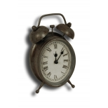 Bedside zinc 'alarm' clock 17.5x10.5