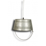 Inverted zinc bucket ceiling light h.42 d.32