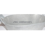 Zinc containers