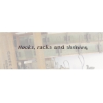 Hooks, racks and shelving