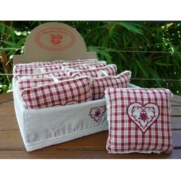 Embroidered fragrance pillows orange cinnamon scent 12x12