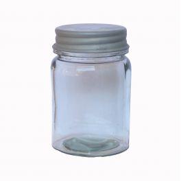 Jar with zinc lid h.12 d.8