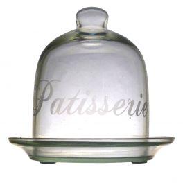 Glass cloche d.10 h.13